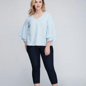 Lane Bryant Skinny Capri Jeans Dark Wash Size 14